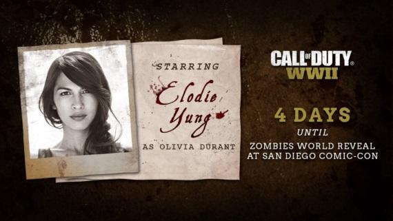 Elodie Yung bude hviezdou Call of Duty: WWII Zombies režimu