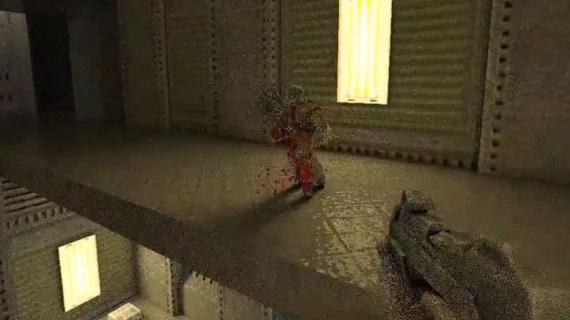 Ukážka Quake 2 GPU pathtracingu na Titan XP karte
