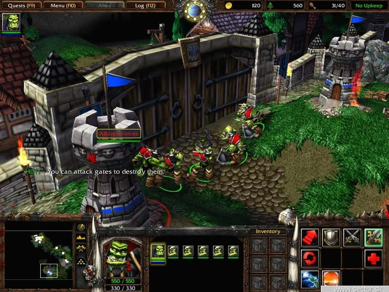 Warcraft III patch 1.21a.