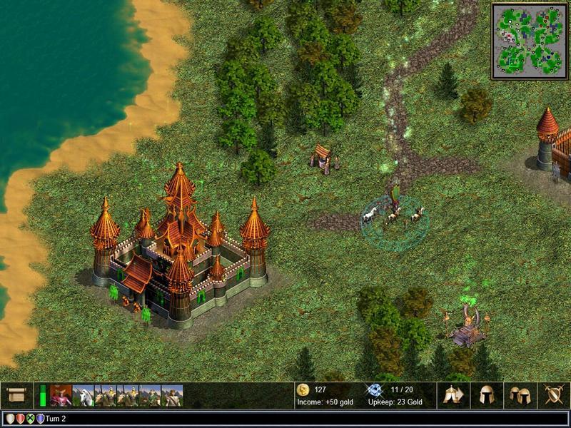 Миниатюра скриншота Warlords 4: Heroes of Etheria.