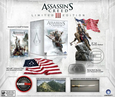 Assassins Creed III limitka za 120 dolárov