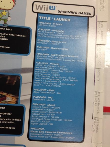 Aktualizovan� zoznam Wii U titulov