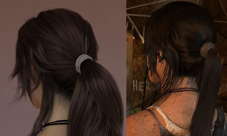 Tomb raider 2013 волосы