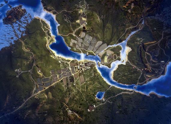 Satelitné zábery na svet Zaklínača 3