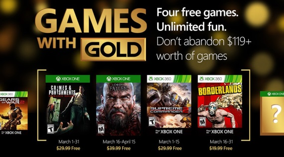 Xbox Live Gold hry na marec oficiálne predstavené
