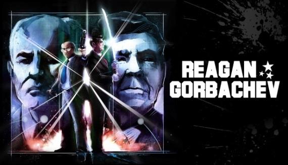 Reagan Gorbachev rozohr�va akciu s prezidentmi z obdobia studenej vojny