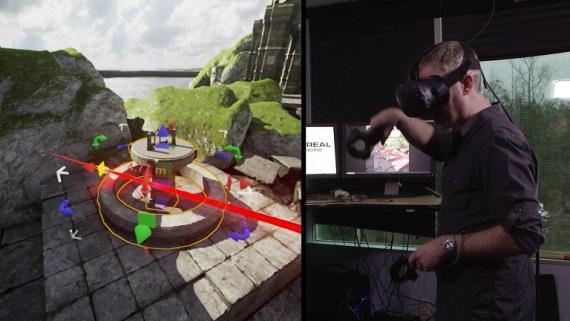 Epic ukázal možnosti svojho UE4 editoru vo virtuálnej realite