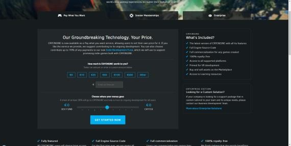 Crytek predstavil CryEngine V, zaplatíte zaň koľko chcete