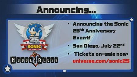 Nov� Sonic m� d�tum vydania, zna�ka osl�vi 25. narodeniny na p�rty