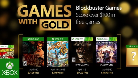 Apr�lov� Games with Gold vedie Sunset Overdrive