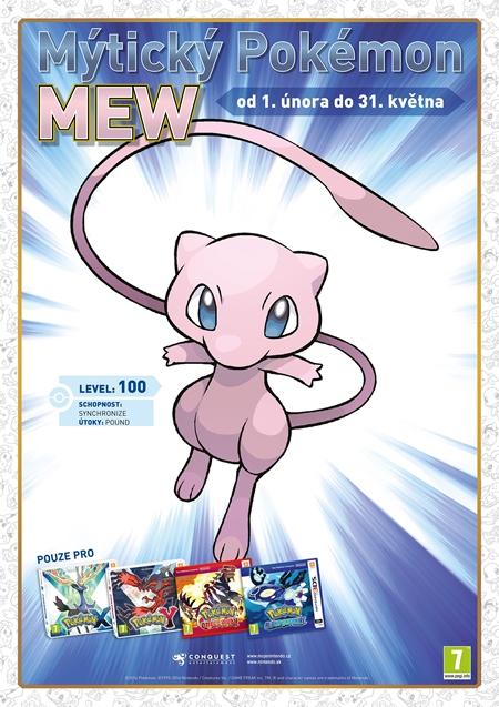 20. narodeniny značky Pokémon - videotéma a rozdávačka mýtického Pokémona
