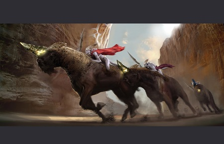 Pozrite si leaknuté concept arty zrušenej hry Darkside od autorov God of War
