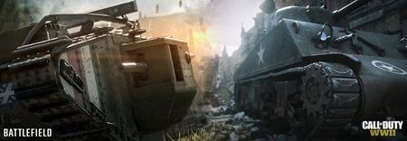 Call of Duty WW2 sa porovnáva s Battlefield 1 na niekoľkých obrázkoch