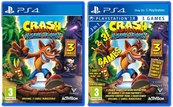 Crash Bandicoot N. Sane Trilogy ukazuje boxart